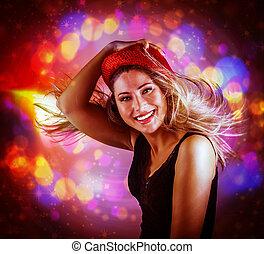 vrolijke , dancing, meisje