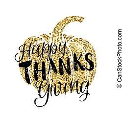 vrolijke , dankzegging, dag, kaart