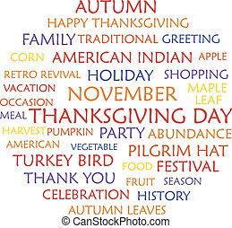 vrolijke , dankzegging, dag
