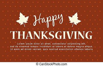 vrolijke , dankzegging, herfst, achtergrond