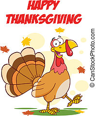 vrolijke , dankzegging, met, turkije