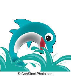 vrolijke , dolfijn