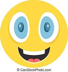vrolijke , emoticon, vector, illustratie