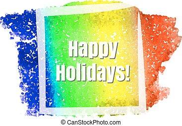 vrolijke , feestdagen, frame