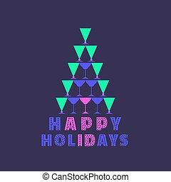 vrolijke , feestdagen, kaart
