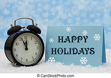 vrolijke , feestdagen, tijd