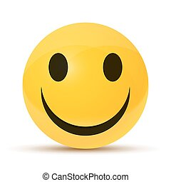 vrolijke , geel gezicht