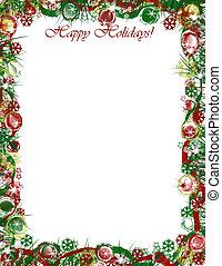vrolijke , grens, kerstmis, feestdagen