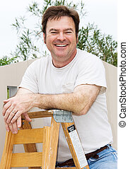 vrolijke , handyman