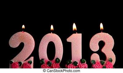 vrolijke , jaar, nieuw, 2013