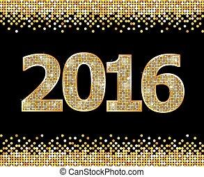 vrolijke , jaar, nieuw, 2016
