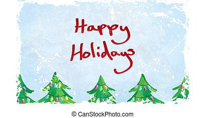 vrolijke , kaart, feestdagen