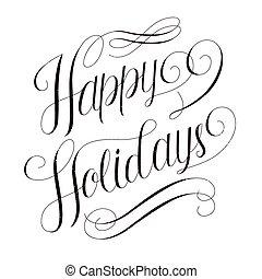 vrolijke , kalligrafie, ontwerp, feestdagen