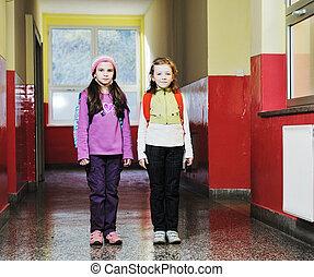 vrolijke , kinderen, groep, in, school