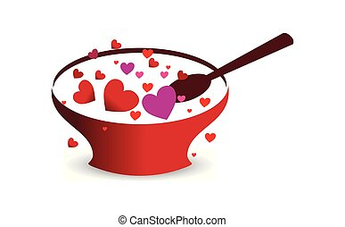 vrolijke , liefde, dag, mal, valentine