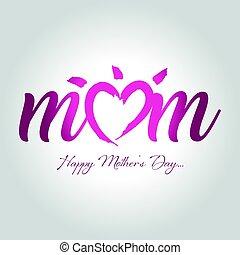 vrolijke , moeders dag, begroetende kaart, vector, illustratie