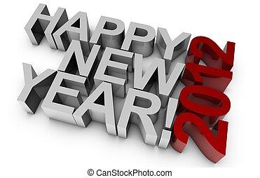 vrolijke , nieuw, year!, 2012