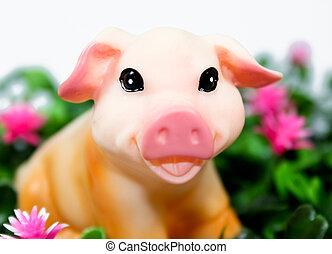 vrolijke , pig!