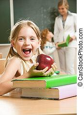 vrolijke , schoolgirl