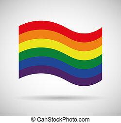vrolijke trots, vlag