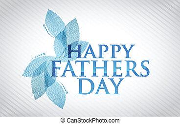 vrolijke , vaders dag, kaart, illustratie, ontwerp