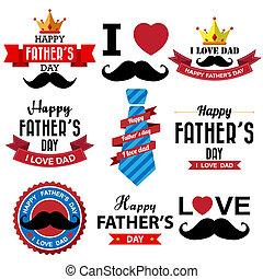 vrolijke , vaders dag, ouderwetse , retro, type, lettertype