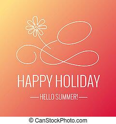 vrolijke , vakantie