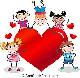 vrolijke , valentijn