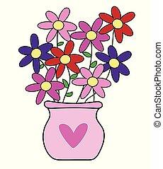vrolijke , valentines dag, bloemen