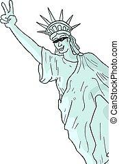 vrolijke , vrijheid, standbeeld