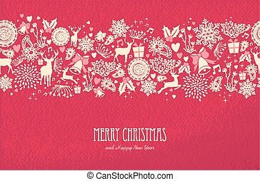 vrolijke , vrolijk, kaart, nieuw, kerstmis, jaar