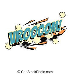 Vroom comic word