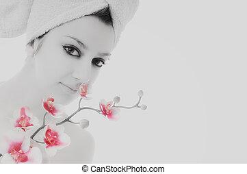 vrouw, beauty