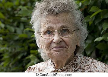 vrouw, bejaarden