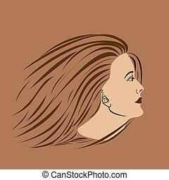 vrouw, bovenkant