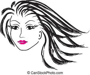 vrouw confronteren, vector, mooi