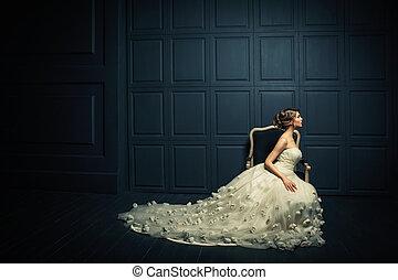 vrouw, elegantie