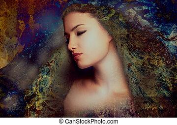 vrouw, fantasie