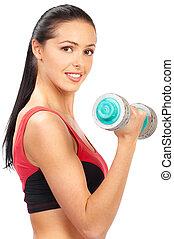 vrouw, fitness