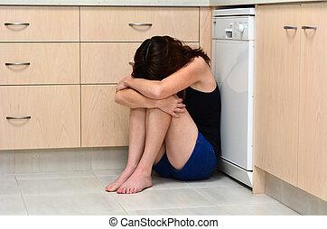 vrouw, huiselijk geweld