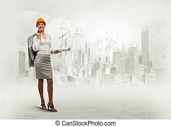 vrouw, ingenieur