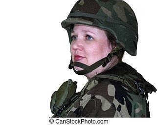 vrouw, leger