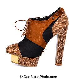 vrouw, mode, laarzen