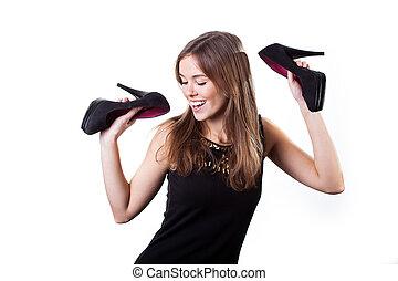 vrouw, mooi, dancing