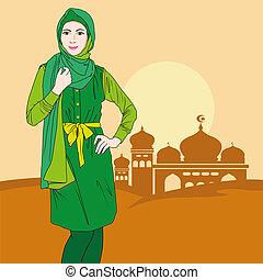 vrouw, moslim