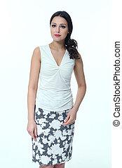 vrouw, ongedwongene handel, kleren