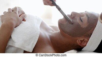 vrouw, op, spa, procedures