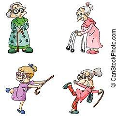 vrouw, oud