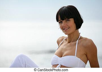 vrouw, oud, fourty, 40, jaren, aantrekkelijk