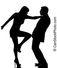 vrouw, paar, violence, huiselijk, een man